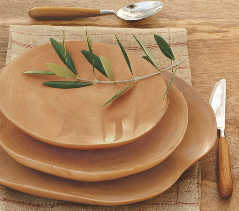 Handcrafted Mango Wood Plates & Handcrafted Mango Wood Plates - The Green Head