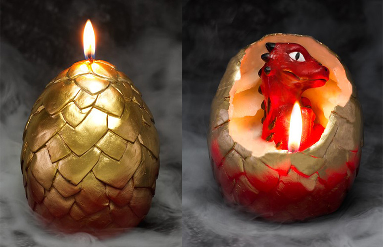 Hatching Dragon Candles The Green Head