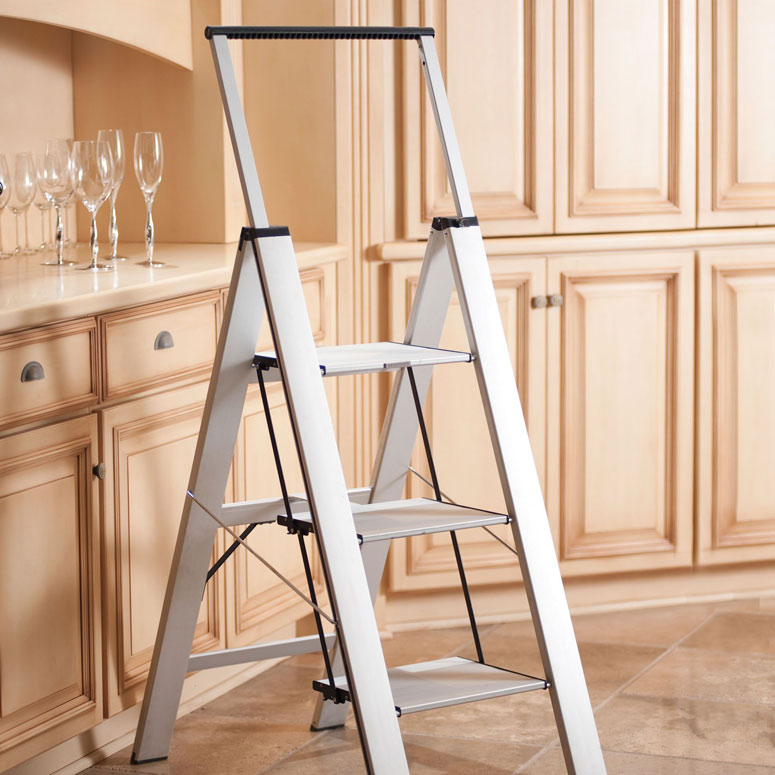 Heavy-Duty Slimline Step Ladder