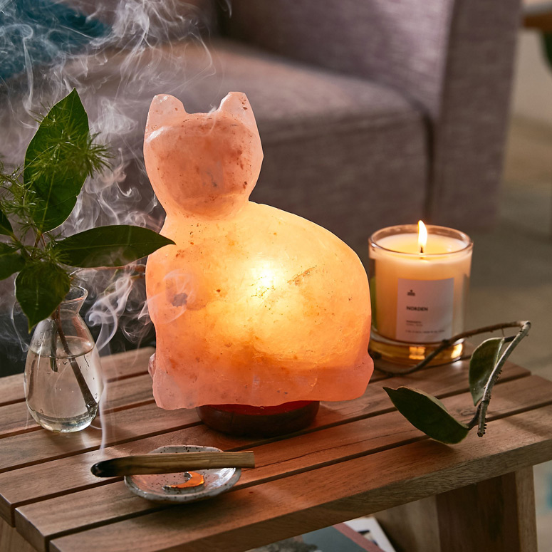 Himalayan Salt Lamp Cat - The Green Head