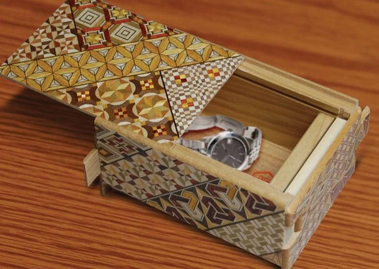 Himitsu Bako Japanese Puzzle Box The Green Head