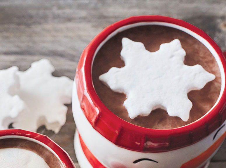 Huge Snowflake Marshmallows - Hot Cocoa Toppers