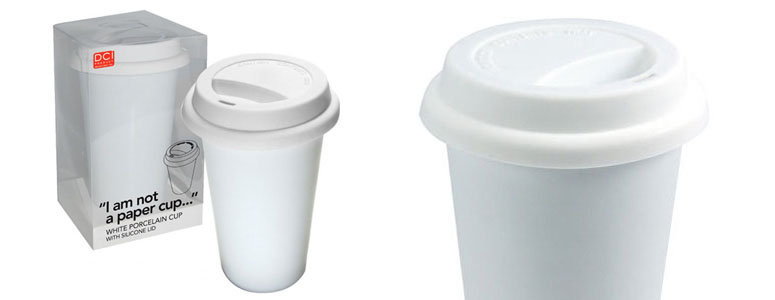 I Am Not A Paper Cup -  Eco-Friendly Reusable Ceramic Coffee Cup