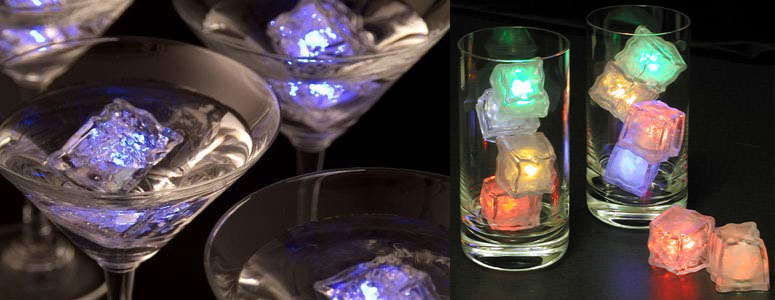 ice lite cubes light up your drinks the green head