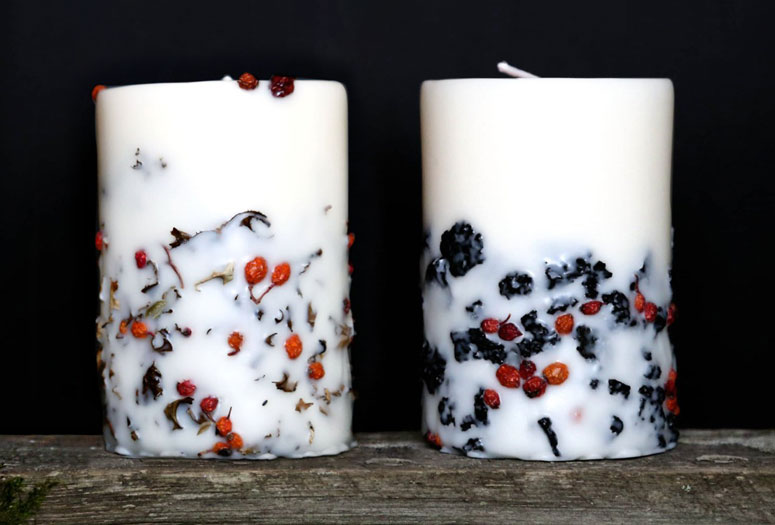 Icelandic Lava Stone and Moss Candles