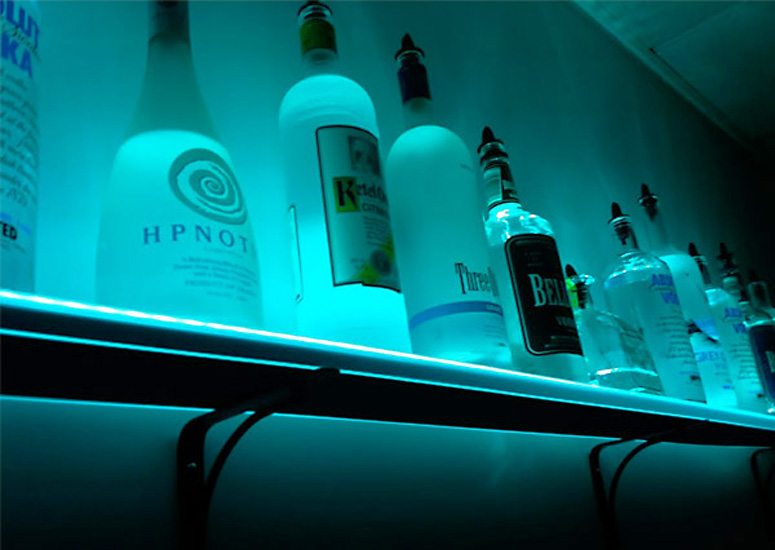 Admirable Illuminated Liquor Bottle Shelf Unlimited Colors And Interior Design Ideas Lukepblogthenellocom