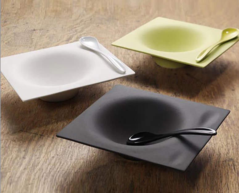 Impression Crockery - Ceramic Soup Bowl and Spoon Set