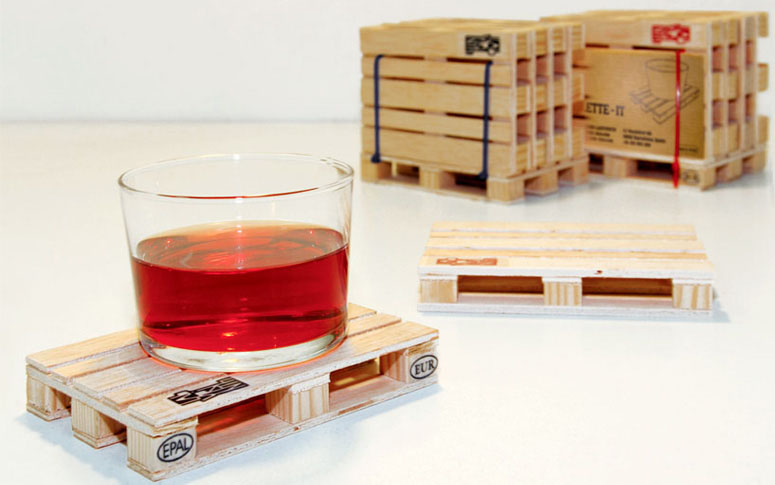 Industrial Wooden Pallet Coasters
