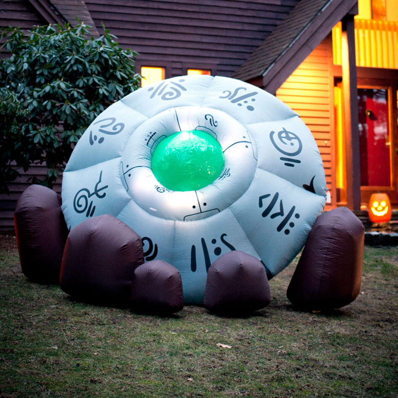 Massive Inflatable Crashed Ufo The Green Head