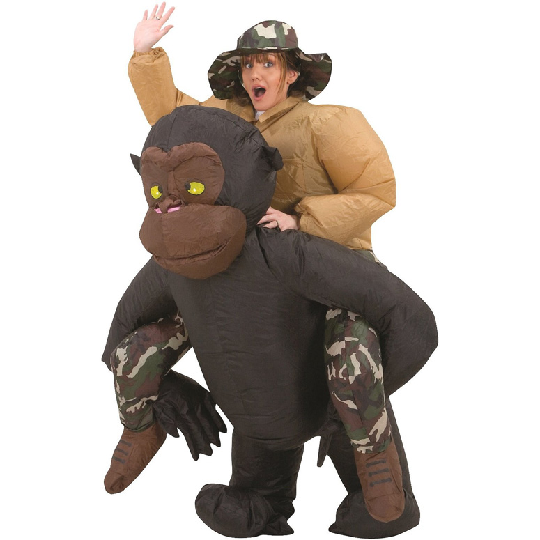 Inflatable Riding Gorilla Halloween Costume The Green Head