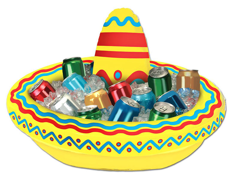 Inflatable Sombrero Cooler - The Green Head
