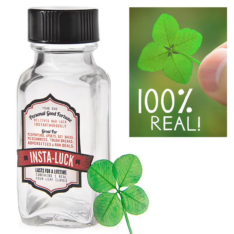Insta-Luck - Authentic Four-Leaf Clover in a Bottle