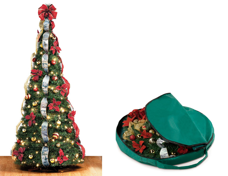 instant pop up christmas tree - Pull Up Christmas Trees Decorated