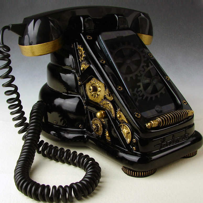 iRetrofone - Steampunk iPhone Handset
