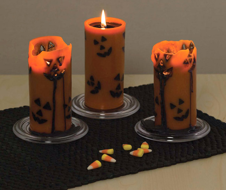 Jack-O-Melt Halloween Candles