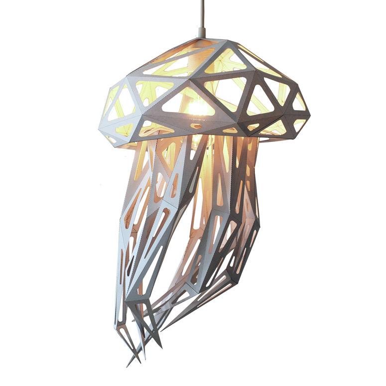 Jellyfish Light Shade Paper Sculpture