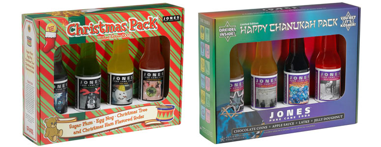 Jones Soda - 2007 Christmas + Chanukah Holiday Packs