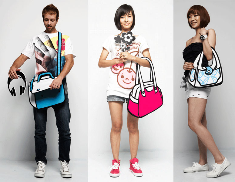 Jump From Paper - 2D Cartoon Bags
