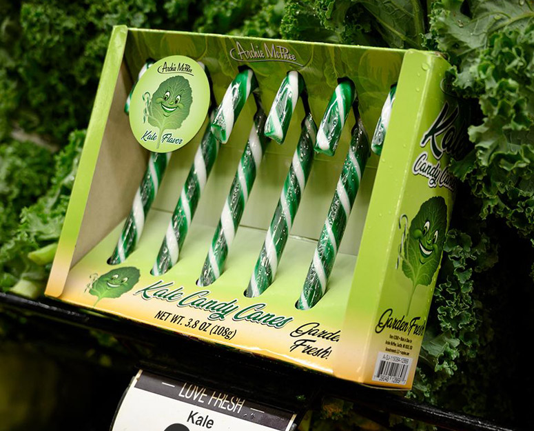 Kale Candy Canes