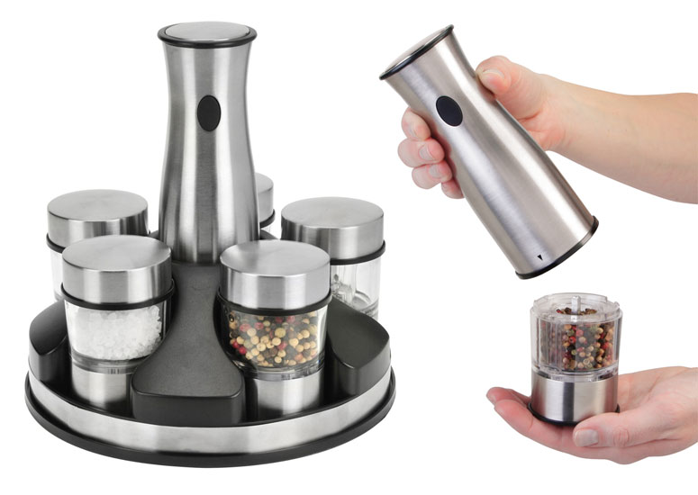 Kalorik Interchangeable Salt and Pepper Grinder Set