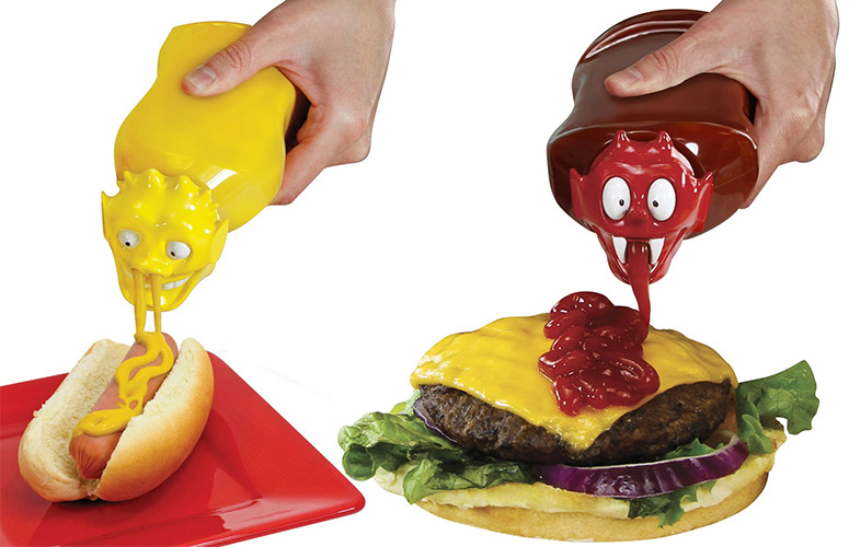 Ketchup Kritter And Mustard Monster Squeeze Bottle Caps