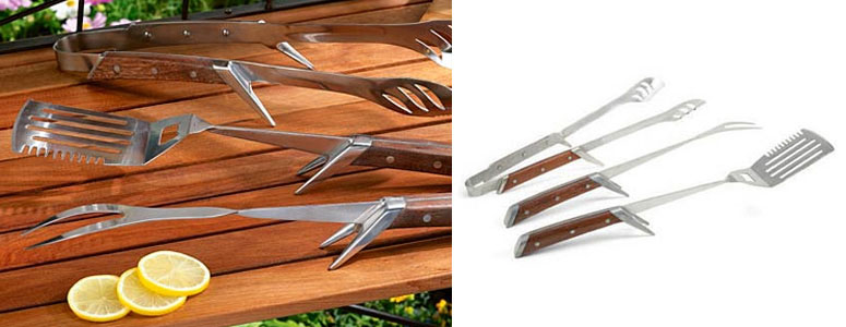 Kickstand BBQ Tools - Keep Your Grilling Area Neat!