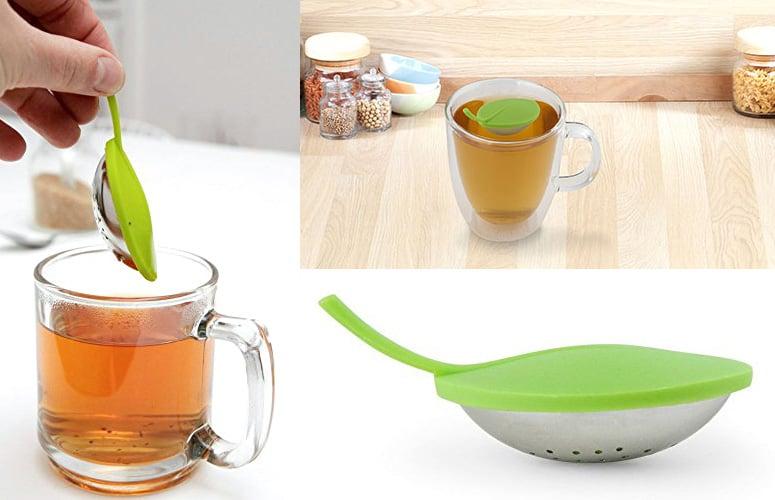 Kikkerland Floating Leaf Tea Infuser The Green Head
