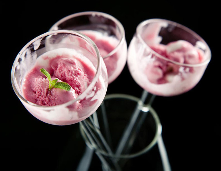 KKis Canapes - Long Stem Glass Ice Cream Cups