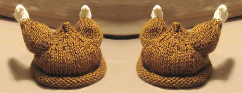 Knitted Turkey Baby Hat