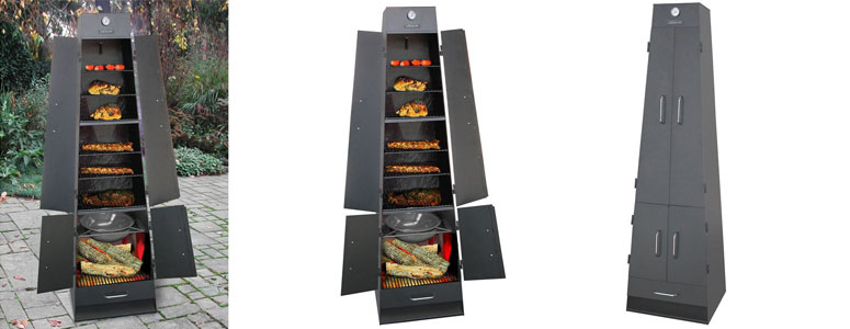 Landmann Quadque Ultimate Fireplace Grill Smoker