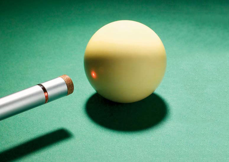 Laser Cue Laser Guided Pool Cue The Green Head