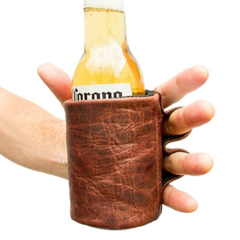 Leather Beer Drinking Glove