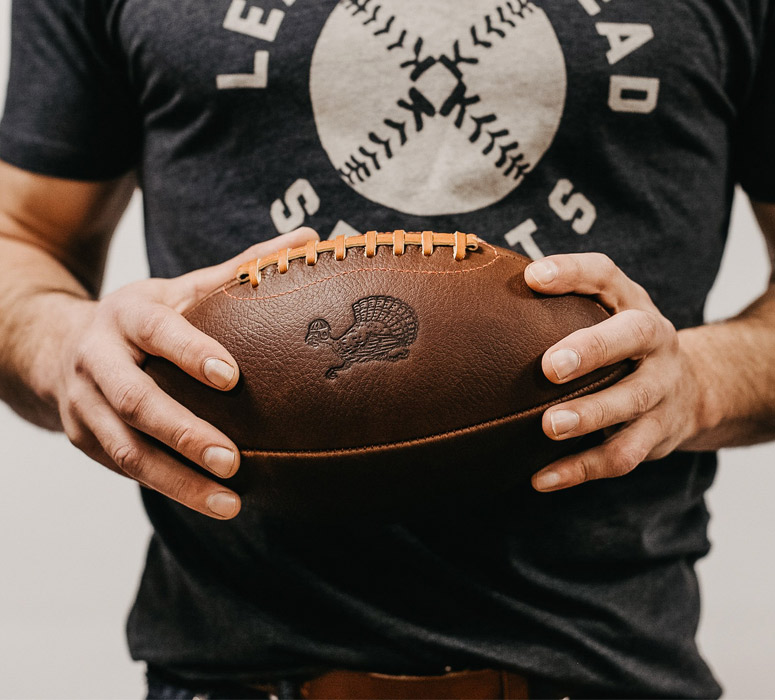 Leather Head Sports Thanksgiving Turkey Football