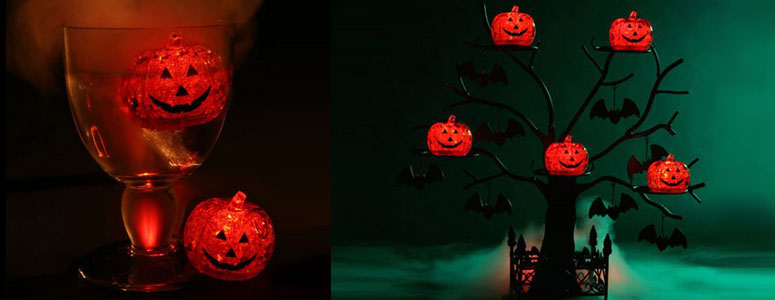LED Light Up Ice Cube Pumpkins