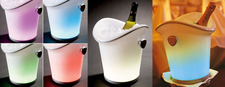 The LED Lighted Ice Bucket