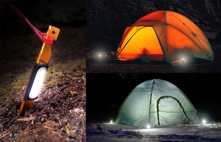 UCO StakeLights  - LED Tent Stakes With Emergency Strobe