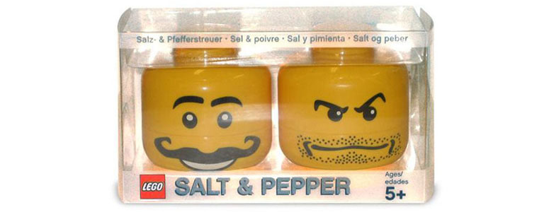 LEGO Salt and Pepper Shaker Heads