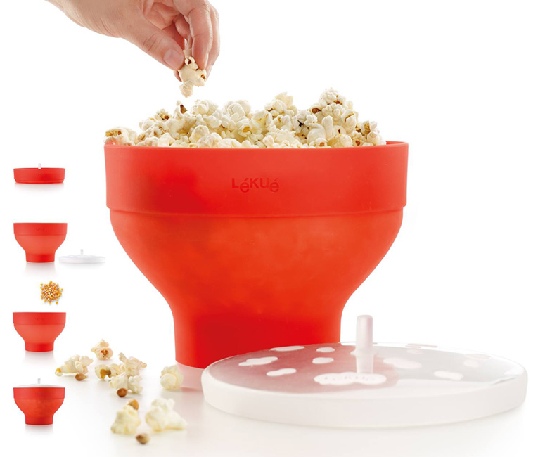 Lekue Collapsible Silicone Popcorn Maker / Bowl