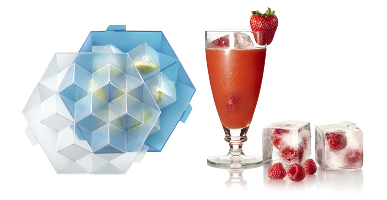 Lekue XL Ice Cube Tray - Makes Perfectly Square Fruit / Herb Ice Cubes