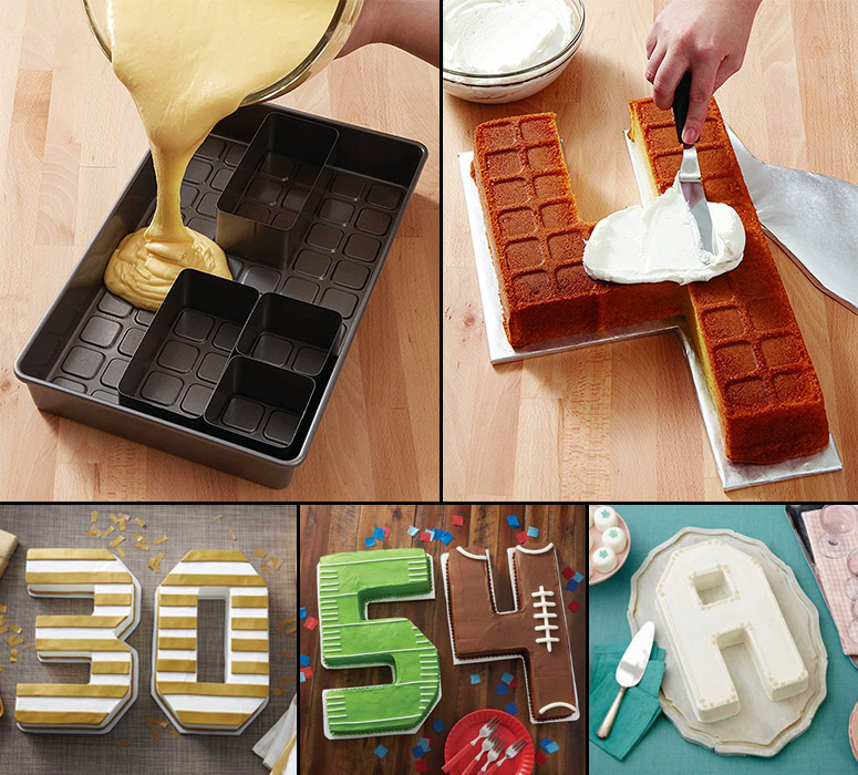 Letters and Numbers Cake Pan Set