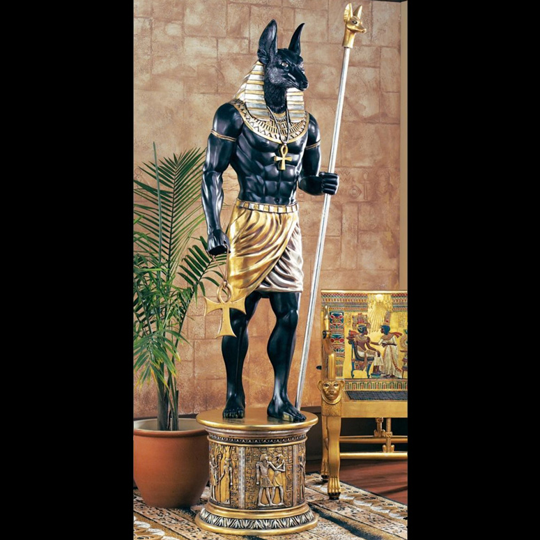 Lifesize Egyptian Anubis Sculpture - The Grand Ruler