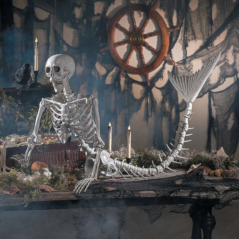 Lifesize Mermaid Skeleton - Over 6 Feet Long!