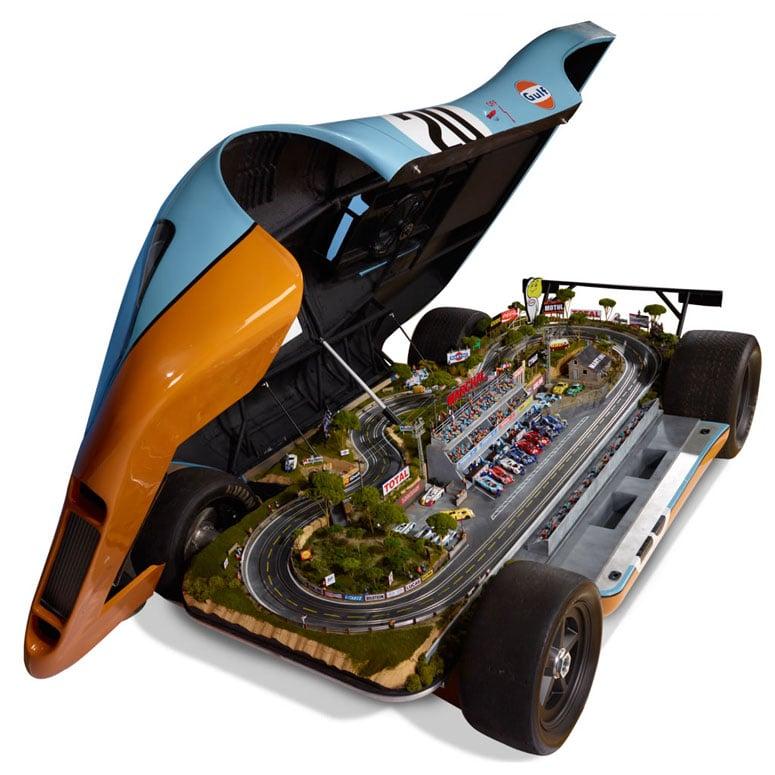 Lifesize Porsche 917 Le Mans Raceway Slot Car Track The