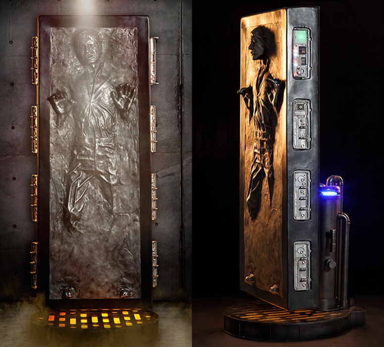 Lifesize Star Wars Han Solo Frozen In Carbonite Statue