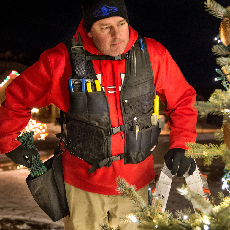 Light Vest - Hang Christmas Lights Like a Pro