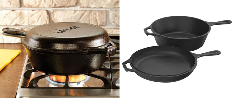 Lodge 2-in-1 Cast Iron Combo Cooker - Dutch Oven and Skillet / Lid