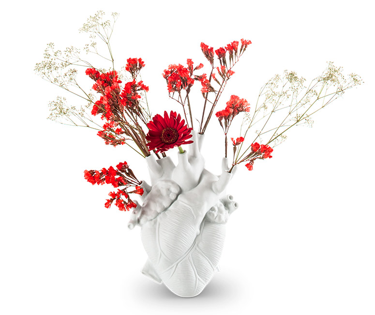 Love in Bloom - Anatomically-Correct Heart Vase