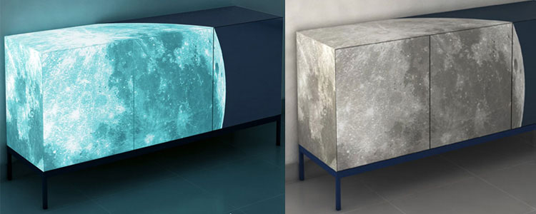 Luminous Full Moon Credenza