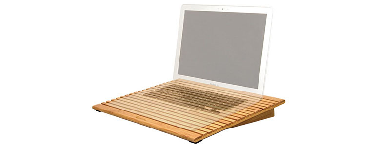 Macally EcoFan - Bamboo Laptop Stand With USB Fans