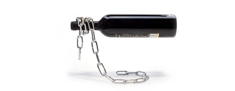 Magical Floating Chain Wine Bottle Holder Illusion